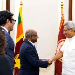 Foreign Minister Shahid pays a courtesy call on the President of Sri Lanka