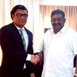 Ambassador Omar paid a courtesy call on Hon. Arumugam Thondaman