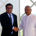 Ambassador Omar paid a courtesy call on Hon. Chamal Rajapaksa