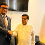 Ambassador Omar paid a courtesy call on Hon. Nimal Siripalada Silva