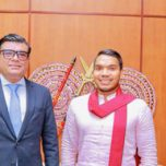 High Commissioner Omar paid a courtesy call on Hon. MP  Namal Rajapaksa,  Minister of Sports & Youth Affairs