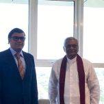 High Commissioner Omar paid a courtesy call on Hon. Chamal Rajapaksa