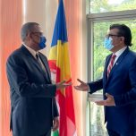 Non-Resident High Commissioner of Maldives to Seychelles paid a courtesy call on the Minister of Transport of Seychelles