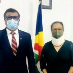 Non-Resident High Commissioner of Maldives to Seychelles paid a courtesy call on the Minister of Health of Seychelles
