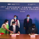 High Commissioner Omar spoke at the Signing Ceremony of Project Agreement between HIPG and Sea Horse Yatchs Pvt Ltd. of Maldives