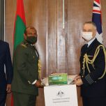 Government of Australia handed over PPE to the Maldives