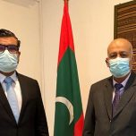 High Commissioner Omar met with H.E Dr. Zuhair Hamdallah Zaid, Ambassador of Palestine to Sri Lanka