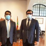 High Commissioner Omar paid a courtesy call on Hon. Johnston Fernando, Minister of Ports, Shipping, Roads and Highways