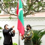 Flag hoisting ceremony held to mark the 55th Anniversary of Independence Day