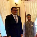 High Commissioner Omar met with the High Commissioner of India to Sri Lanka