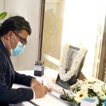 High Commissioner Omar signed the book of condolences opened at the High Commission of India