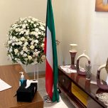 High Commissioner Omar signed the book of condolence