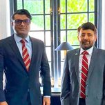 High Commissioner Omar met with H.E. Major General [Rtd] Muhammad Saad Khattak, High Commissioner of Pakistan