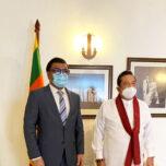 High Commissioner Omar paid a courtesy call on Hon Prime Minister of Sri Lanka