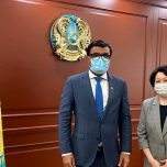 Non-Resident Omar paid a courtesy call on Minister of Culture and Sports of  Kazakhstan