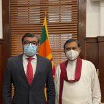 High Commissioner Omar paid a courtesy call on Hon. Basil Rajapaksa, Minister of Finance of Sri Lanka